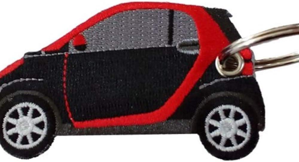 Smart Schwarz Rot Doppelseitiger Schlüsselanhänger Auto