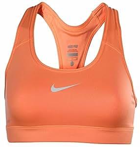 Nike Women's Pro Combat Medium Impact Compression Sports Bra-Coral-Medium