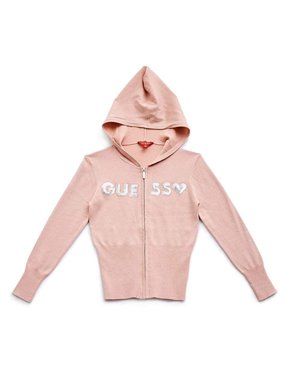 7-16 GUESS Factory Kids Girls Everly Sequin Logo Hoodie