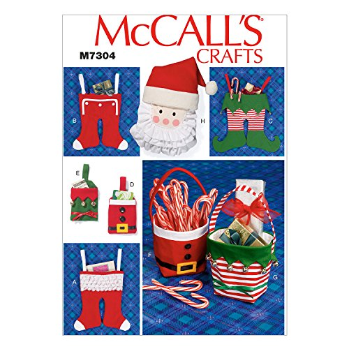 McCall's Patterns M7304 Christmas Items, One Size Only