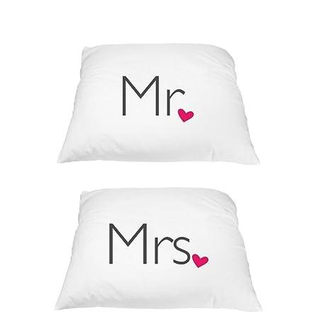 Deffwb Wedding Pillowcases Mr Mrs Luxury Soft