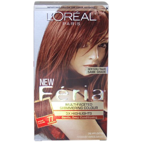 (Feria Multi-Faceted Shimmering Color 3X Highlights # 77 Bright Auburn, Warmer By)