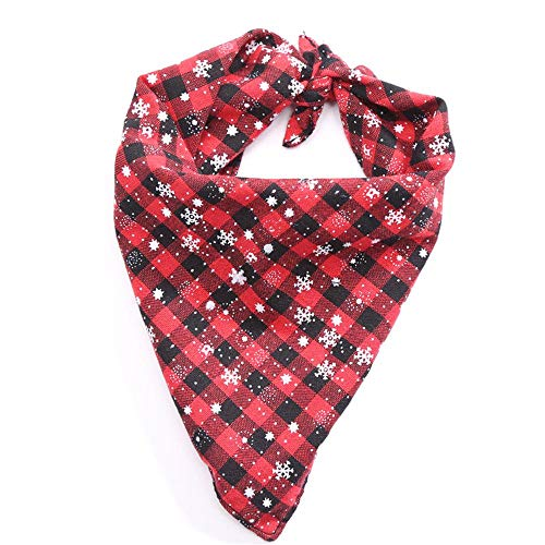 Uscharm Dog Bandana,Christmas Bibs Scarf,Washable Reversible Adjustable Triangle