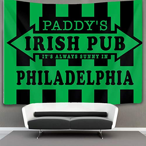 HE - Fashion It's Always Sunny in Philadelphia Paddy's Irish Wall Tapestry Hippie Art Tapestry Wall Hanging Home Decor Extra Large tablecloths 60x70 inches for Bedroom Living Room Dorm Room ()