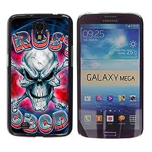 MOBMART Carcasa Funda Case Cover Armor Shell PARA Samsung Galaxy Mega 6.3 - Frozen Scary Skull