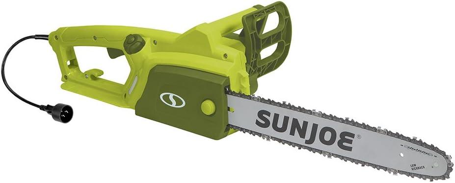 Sun Joe SWJ599E 14-inch 9-Amp Tree Limb Master Electric Handheld Chainsaw with Low-Kickback