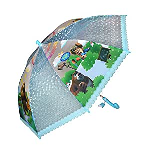 LuK aceite carcasa para niños de dibujos de niños paraguas transparente paraguas