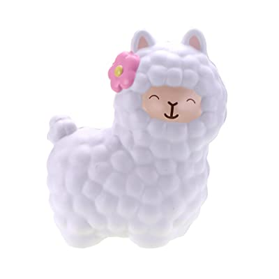 CutieLine Vlampo Slow Rising Scented Alpaca Squishy (White): Toys & Games