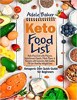 Buy Keto Food List Ketogenic Diet Quick Guide For Beginners Keto Food List With Macros Nutritional Charts Meal Plans Recipes With Calories Net Carbs Fat For Healthy Weight Loss Book Online