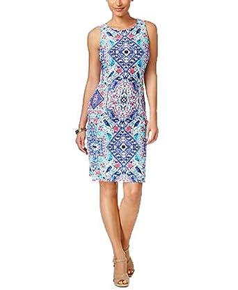 cd9fcd72 Charter Club Petite Printed Sheath Dress at Amazon Women's Clothing store: