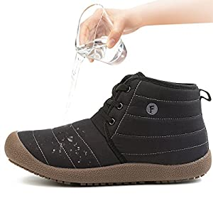 JIASUQI Woman Fashion Ankle Shoes Athletic Boots Black 11 M US