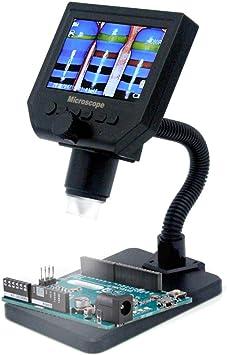 Microscopio digital LCD port/átil KKmoon G600 con alto brillo 8 LED y bater/ía de litio incorporada