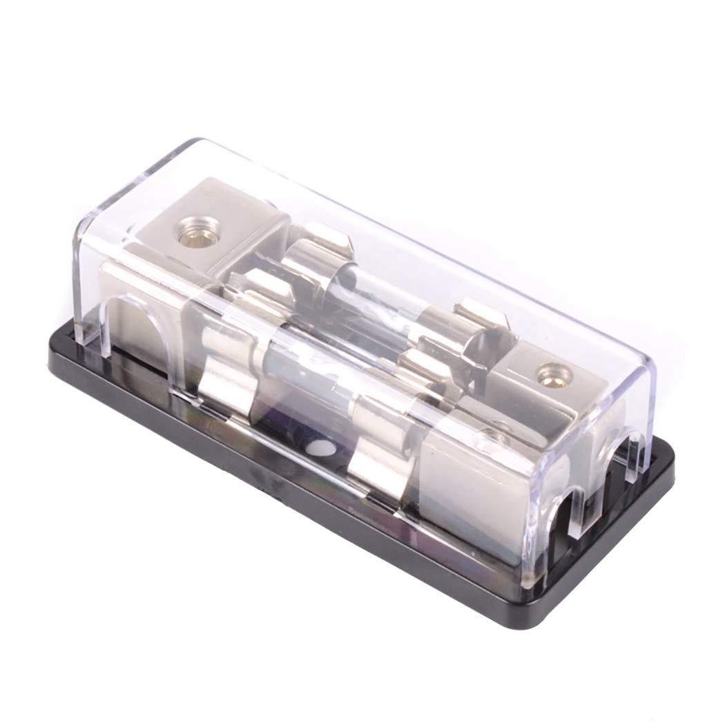 Fansport Fuse Holder 2 Way AGU Bloque De Fusibles De Bloque De Distribució N De Energí A En Lí Nea para Audio De Auto