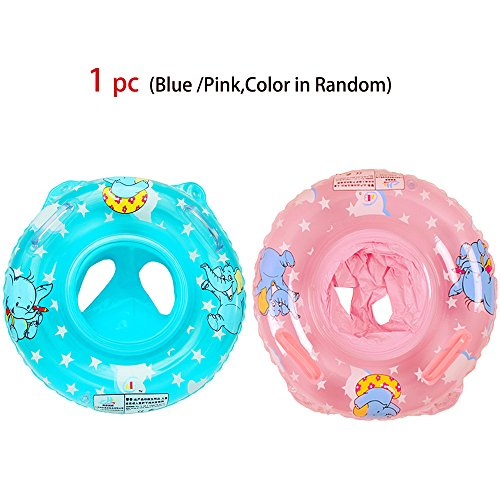 [Summer Inflatable Swimming Rings Baby Educational Float with Two Holes,Easy&Safe for Baby Swimming Learning Bath Trainer(1pc,Random Color)] (Sofia The First Costume Target)