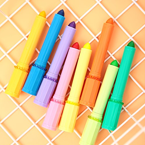 Vann92(TM) [5 Pieces/lot] Lipstick Shape Solid Highlighters Jelly Candy Color Marker - Shape No2