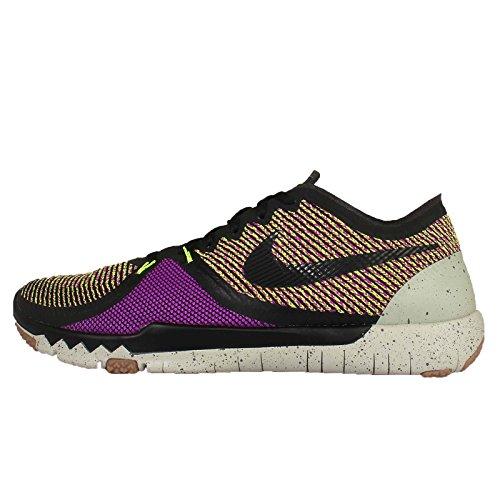 Nike Mens Free Trainer 3.0 V4, BLACK/VOLT-VIVID PURPLE-LUNAR GREY, 8.5 M US