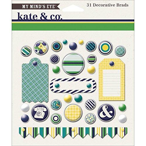 My Minds Eye Nom057240 Kate   Co  Decorative Brads  Oxford Lane