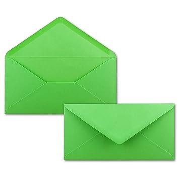 50 Brief Umschläge Hell Grün Din Lang 110 X 220 Mm 11 X 22 Cm