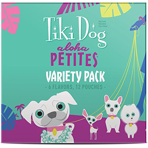 Tiki Dog Aloha Petites Variety Pack Small Breed Wet Dog Food Pouches, 3.5 oz., Case of 12