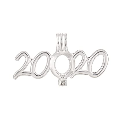 Best Oil Diffuser 2020 Amazon.com: 8pcs 2020 Year Symbol Pearl Cage Bright Silver Beads
