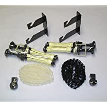 STUDIO-98 WALL MOUNT OR CEILING MOUNT TWO - ROLL BACKGROUND PAPER SUPPORT BRACKETS AND TWO ROLLERS WITH CHAINS