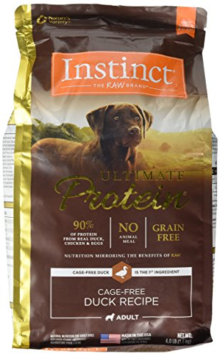 Instinct Ultimate Protein Grain Free Cage Free Duck Recipe Natural Dry Dog Food by Nature's Variety, 4 lb. Bag