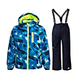 HOTIAN Boys Snow Jackets Waterproof Windproof Thicken Ski Jacket Pants Suits