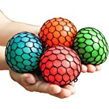Mesh Squishy Ball Squeeze Grape Ball Relieve Pressure Ball, Colors May Vary, 2PCS