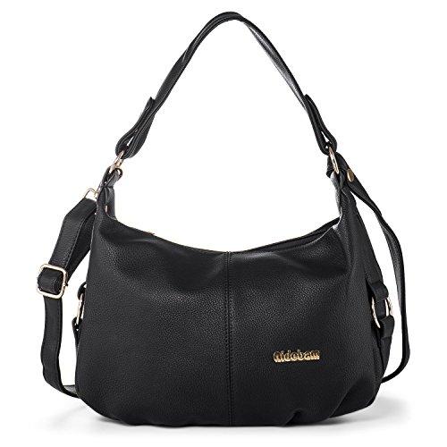 Katloo Shoulder Handbag for Women PU Leather Hobo Crossbody Purse Top Handle Bag Black Nail Clipper by Katloo