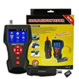 Kibeland Multi Function Cable Length Tester for RJ45 RJ11 BNC Coax Telephone Network Cable Tester Error Detector PING POE Function, Free TF card