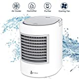 Portable Air Conditioner, [2019 Version] Personal Fan Desk Fan with Breathing LED Night Light Space Air Cooler Mini Table Fan Quick & Easy Way to Cool Personal Space Portable air Cooler for HOM
