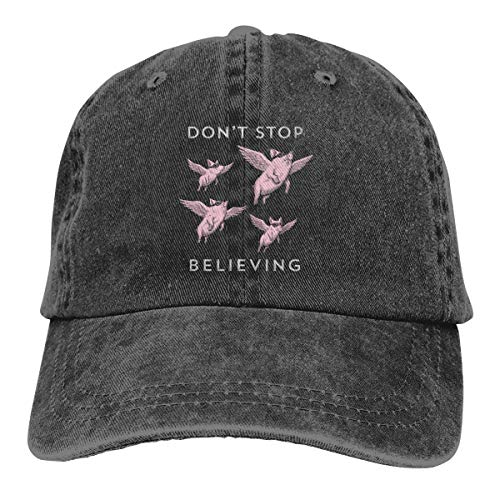 GoDiao Pig Flying to Heaven Sports Denim Cap Hot Dog Men Women Snapback Casquettes Adjustable Cap