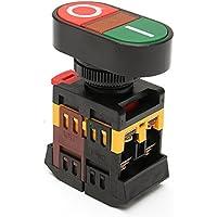 MASUNN 220V Rojo Verde Encendido/Apagado Start Stop Pulsador