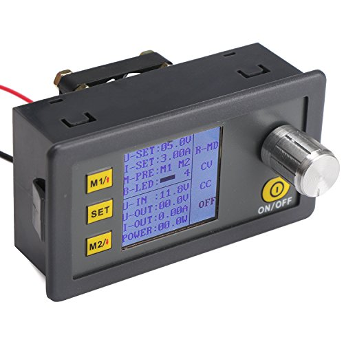Power Supply Buck Module, DROK Voltage Reducer DC to DC 6-35V 24 V Step Down to 0-32V 12V 5V NC Transfromer Panel with LCD Display CC CV Volt Regulator Gauge with Cooling Fan by DROK