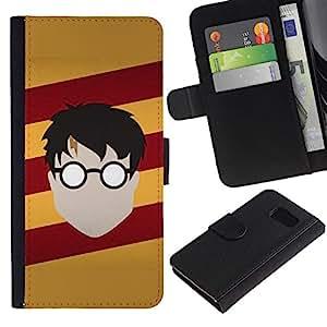 """A-type (Harry Nutria"""") Colorida Impresión Funda Cuero Monedero Caja Bolsa Cubierta Caja Piel Card Slots Para Samsung Galaxy S6"""