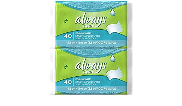 Amazon.com: Always Feminine Wipes - 40 ct - 2 pk by Always: Health & Personal Care