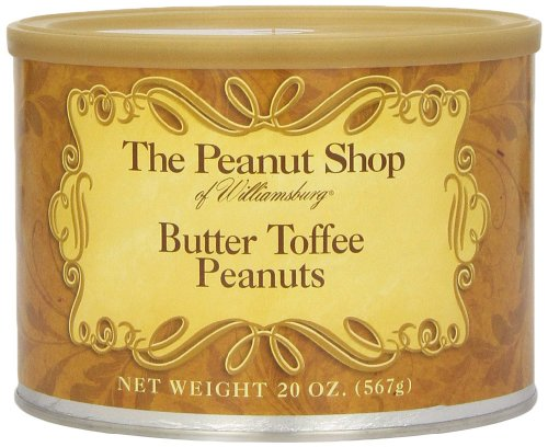 The Peanut Shop of Williamsburg Butter Toffee Peanuts, 20 Ounce - Williamsburg Premium