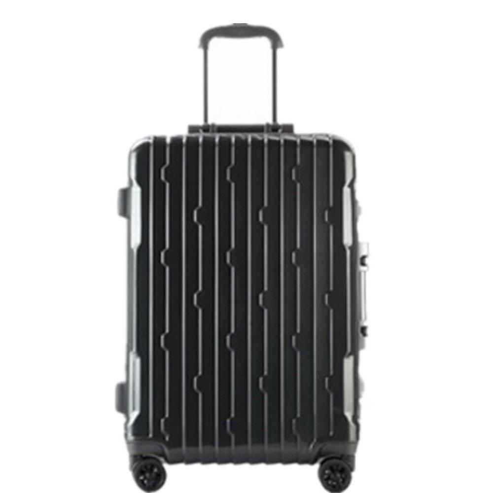荷物ケース, スーツケース, PCのアルミニウムフレーム超軽量ユニバーサルホイール旅行荷物荷物ハードケース 荷物エアボックススーツケース (サイズ : 28) B07SNB3X4M  28