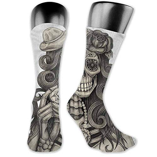Hot sale Socks Day Of The Dead,Calavera Artwork,socks with grips for women and wings (Day Of The Dead Artwork For Sale)