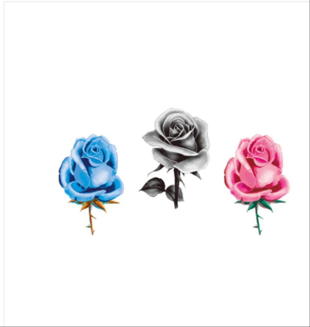 LNNHJB Pasta de Tatuaje de Flor de Rosa Fresca Sexy Pasta de ...