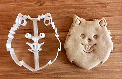 Pomeranian Cookie Cutter and Dog Treat Cutter - Dog Face
