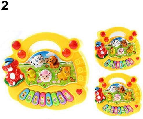 New Musical Educational Animal Farm Piano Developmental Music Toy for Baby Kids