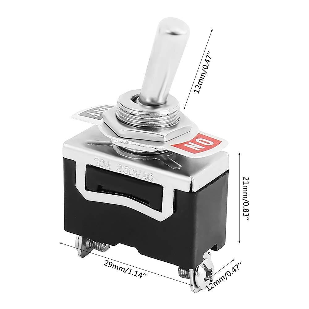 AVA Kippschalter 3er Pack Schalter Wippschalter SPST 2-Polig EIN//AUS 12V 24V 220V 230V
