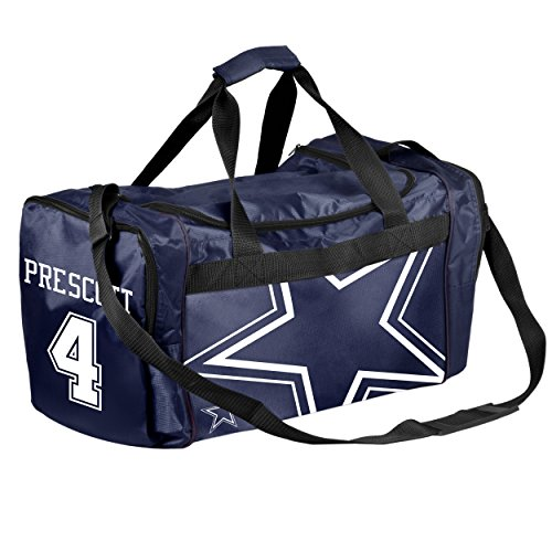 FOCO Dallas Cowboys Dak Prescott #4 Core Duffel Bag by FOCO (Image #1)