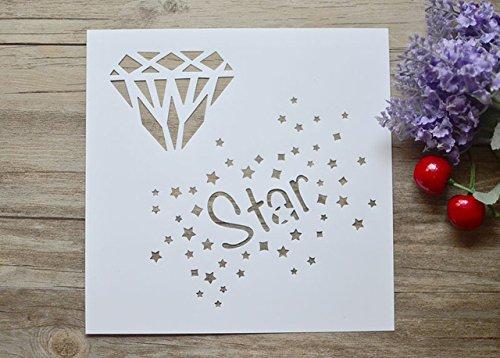 Star Diamond Derramando Camadas De Tinta Stencils Para Scrapbooking DIY/lbum de fotos Decorativo Embossing Selos Cartes de Papel Artesanato 19 cm