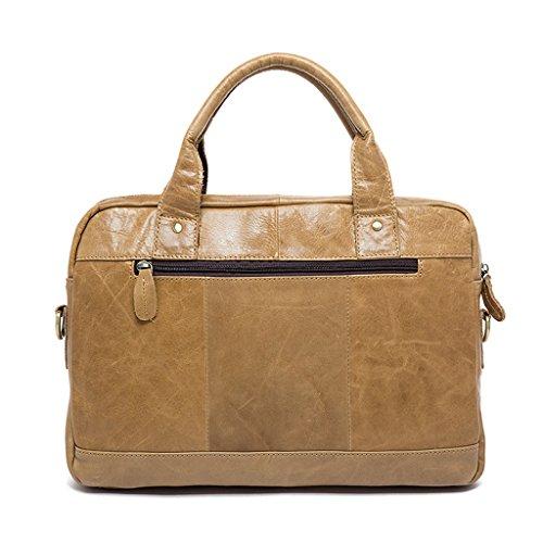 resistente a 1 borsa borsa pelle in zaino tracolla in Sucastle pelle 36x8x25cm uomo tracolla vera Borsa 4 busto e 47ZqTZ