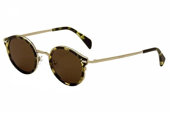 b3d360d662 Amazon.com  Celine 41082 S Sunglass-0J1L Havana Green Gold (A6 Brown ...