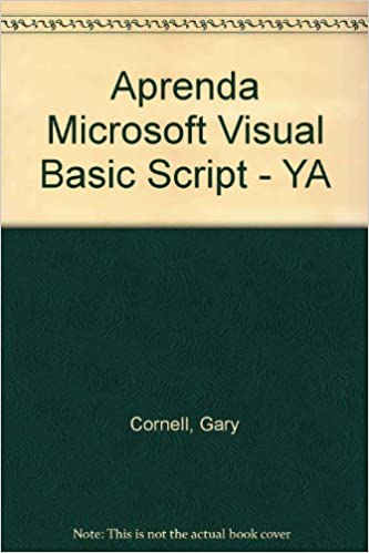 Aprenda Microsoft Visual Basic Script Ya Spanish Edition Gary