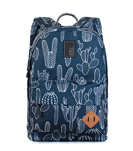 Just Backpack Vega (20 L | 15.6 inches laptop) city backpack with Japanese YKK zippers (Cactus)