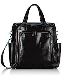 Piquadro Shopping Bag with PC and iPad Compartment Shoulder Strap, Black, One Size